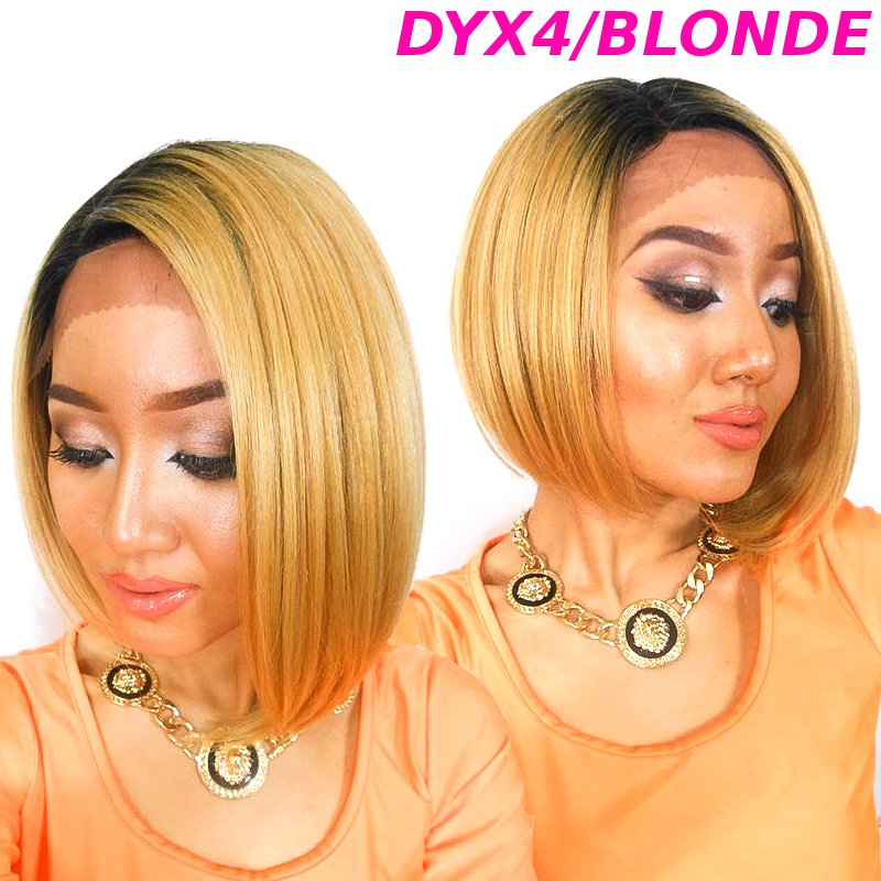 New Born Free Lace front Wig Magic Lace Curved Part Wig MLC156 DYX4/BLONDE