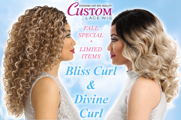 レースフロントウィッグSensationnel Empress Custom Lace front Wig/Divine Curlバナー