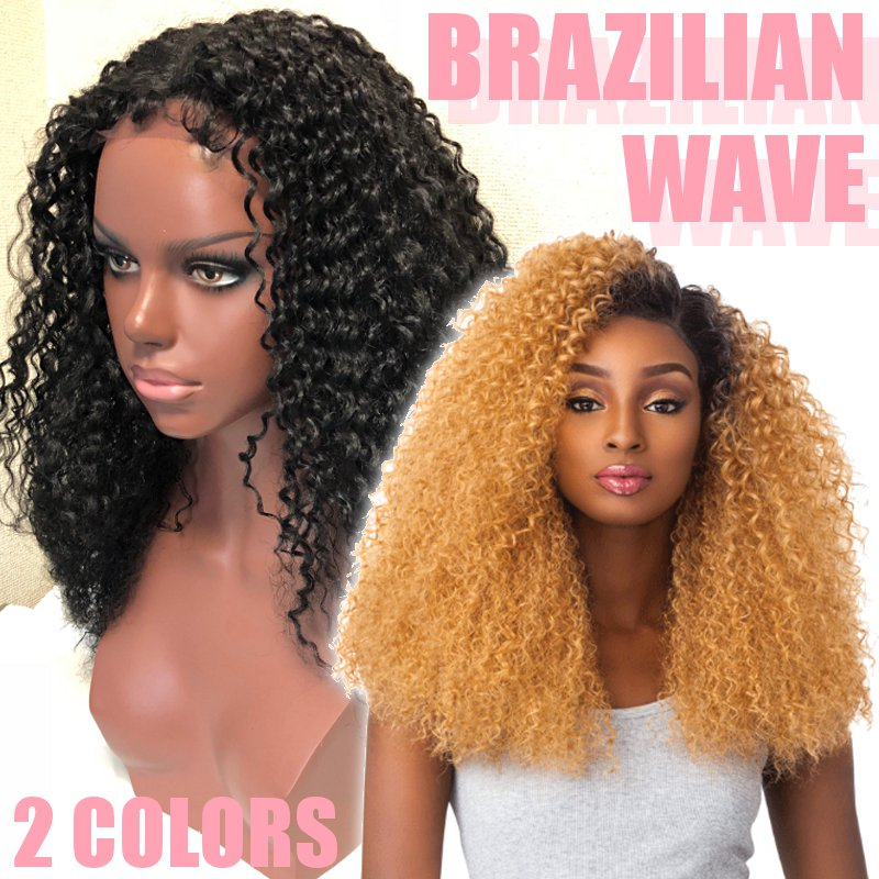 レースフロントウィッグの通販〜Big Kinky Curly Lace front Wig - Brazilian Wave