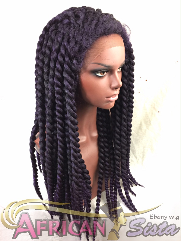 Crochet Braids Wigの通販〜Large Twist Lace front Wigを着用したマネキンその1