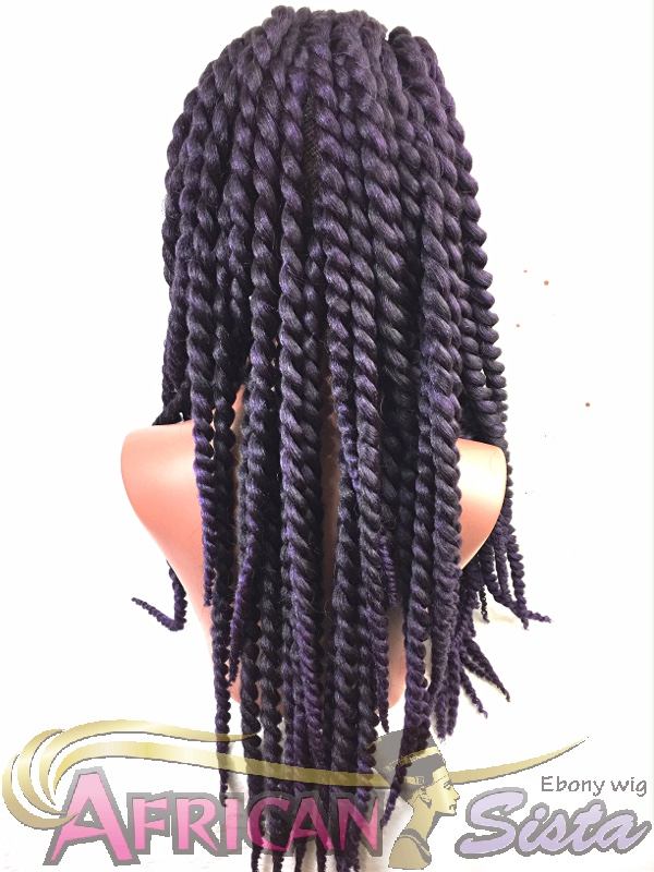 Crochet Braids Wigの通販〜Large Twist Lace front Wigを着用したマネキンその2