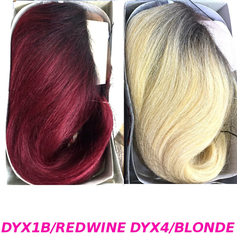 レースフロントウィッグの通販〜New Born Free Magic Lace U-Shape Wig/MLU02のカラー画像(DYX1B/WINEとDYX4/BLONDE)